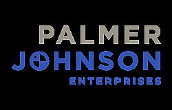 Pj enterprises wordmark stacked grey blue 1920