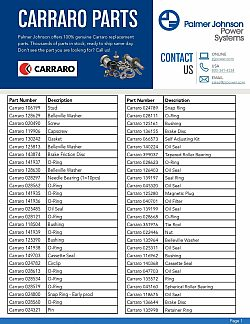 Carraro Part List page 1 updated