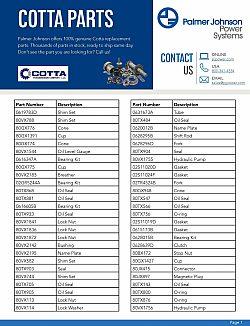 Cotta Parts Catalog Page 1