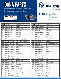 Dana Part List page 1 updated