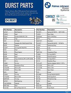 Durst Parts List 1st page