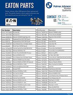 Eaton Parts Catalog 1st page