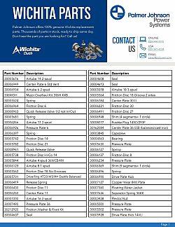 Wichita Parts List 1st page