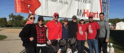 PJ and American Heart Association Heart Walk