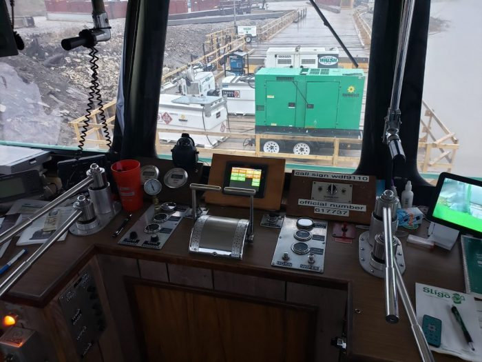 Canton Towing Walsh Const Marine Watch LT ACE panel pilot house