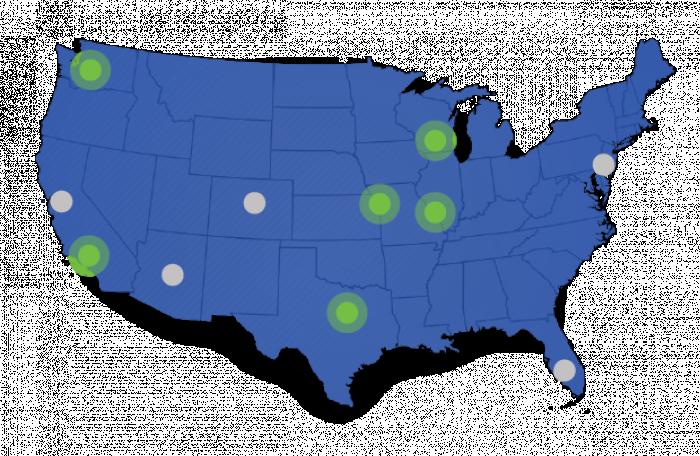 Map of PJ Locations