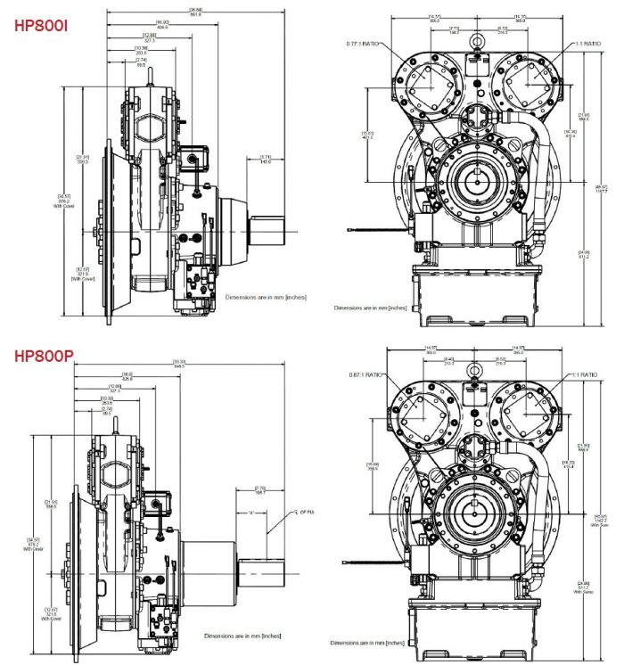 Twin Disc HP 800 Transmission